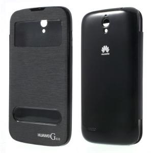 Θήκη HUAWEI Ascend G610 flip - wallet δερματίνη μαύρο