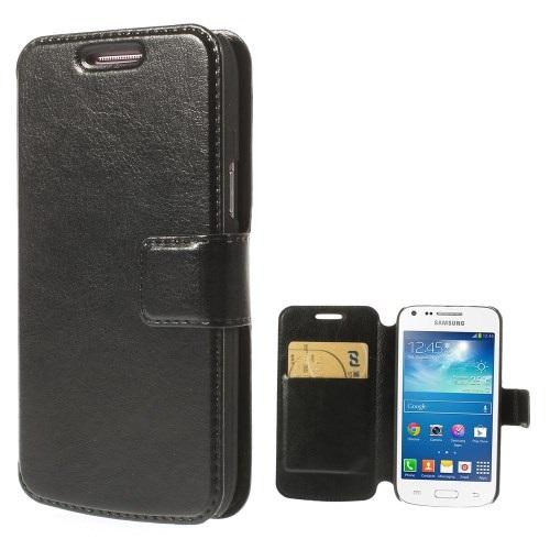 Θήκη SAMSUNG Galaxy Core Plus OEM flip - wallet δερματίνη μαύρο