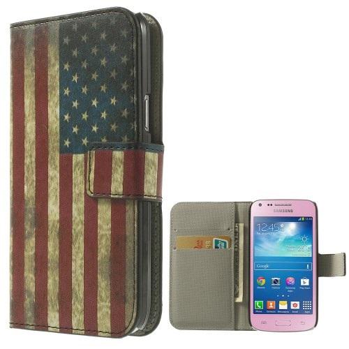 Θήκη SAMSUNG Galaxy Core Plus OEM flip - wallet δερματίνη πολύχρωμο