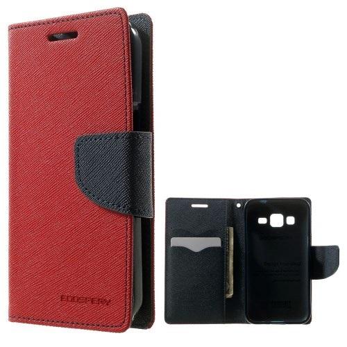 Θήκη SAMSUNG Galaxy Core Prime MERCURY GOOSPERY flip - wallet δερματίνη κόκκινο