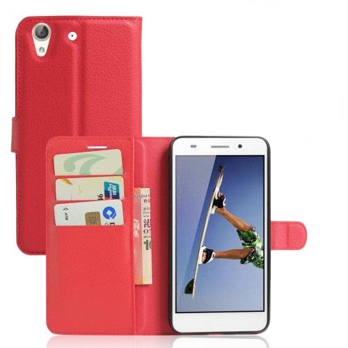 Θήκη HUAWEI Honor 5A Y6 II OEM flip - wallet δερματίνη κόκκινο