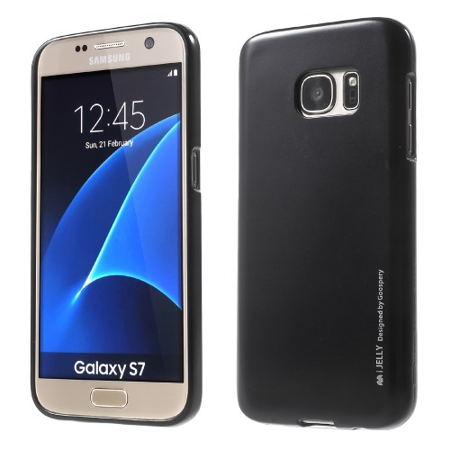 Θήκη SAMSUNG Galaxy S7 MERCURY GOOSPERY i JELLY METAL Πλάτη tpu μαύρο