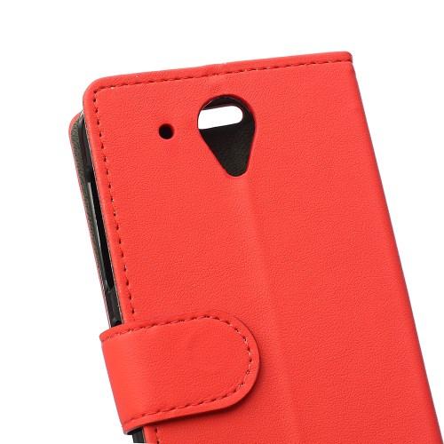Θήκη HTC Desire 520 flip - wallet δερματίνη κόκκινο