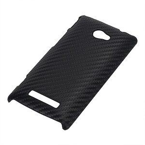 Θήκη HTC Windows Phone 8x πλάτη carbon μαύρο
