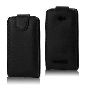 Θήκη HTC Windows Phone 8x flip - wallet δερματίνη μαύρο