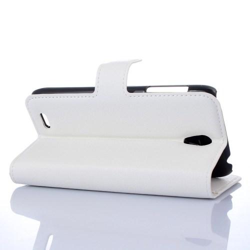 Θήκη LENOVO A319 flip - wallet δερματίνη λευκό
