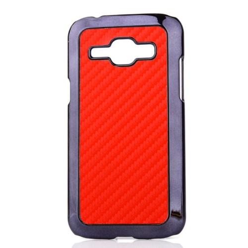 Θήκη SAMSUNG Galaxy J1 πλάτη carbon κόκκινο