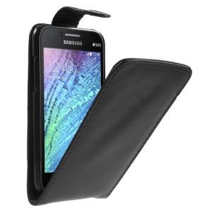 Θήκη SAMSUNG Galaxy J1 flip - wallet δερματίνη μαύρο