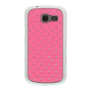Θήκη SAMSUNG Galaxy Trend Lite πλάτη στρας ροζ