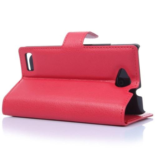 Θήκη ZTE Kis 3 flip - wallet δερματίνη κόκκινο