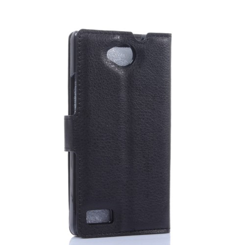 Θήκη ZTE Kis 3 flip - wallet δερματίνη μαύρο
