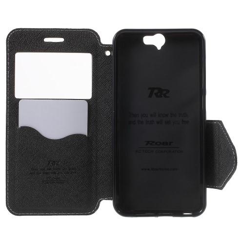 Θήκη HTC One A9 ROAR KOREA flip - wallet δερματίνη λευκό