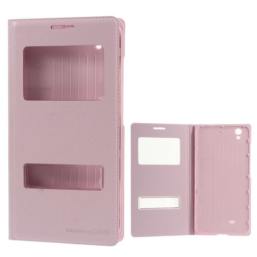 Θήκη HUAWEI Ascend G620 OEM flip - wallet δερματίνη ροζ