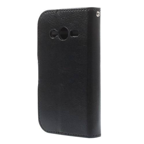 Θήκη SAMSUNG Galaxy Ace NXT OEM flip - wallet δερματίνη μαύρο
