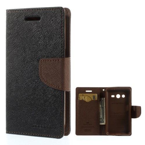 Θήκη SAMSUNG Galaxy Core 2 MERCURY GOOSPERY flip - wallet δερματίνη μαύρο