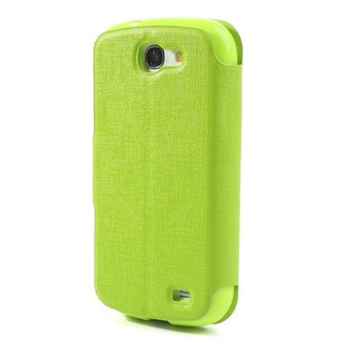 Θήκη SAMSUNG Galaxy Express OEM flip - wallet δερματίνη πράσινο