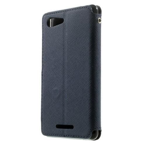 Θήκη SONY Xperia E3 ROAR KOREA flip - wallet δερματίνη μπλε