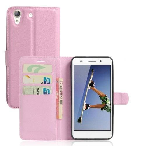Θήκη HUAWEI Honor 5A Y6 II OEM flip - wallet δερματίνη ροζ