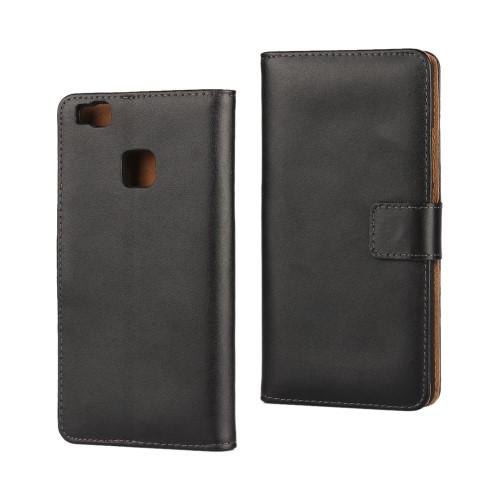Θήκη HUAWEI P9 Lite OEM flip - wallet δερματίνη μαύρο