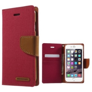 Θήκη iPhone 6 / 6s MERCURY GOOSPERY Canvas Diary flip - wallet δερματίνη κόκκινο