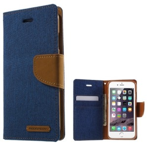 Θήκη iPhone 6 / 6s MERCURY GOOSPERY Canvas Diary flip - wallet δερματίνη μπλε