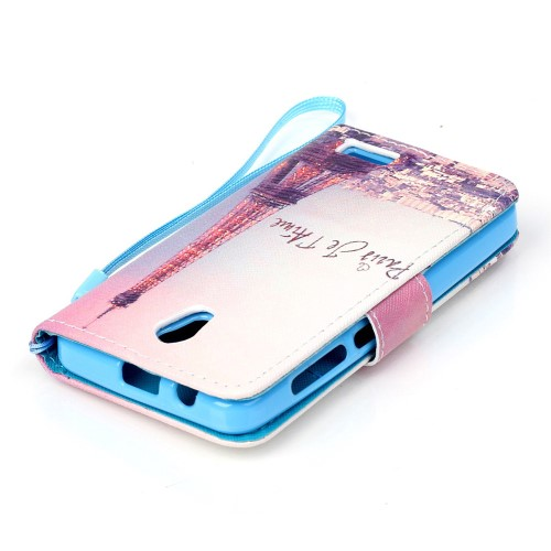 Θήκη LENOVO A319 OEM flip - wallet δερματίνη πολύχρωμο