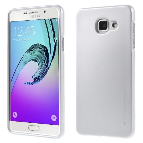 Θήκη SAMSUNG Galaxy A7 (2016) MERCURY GOOSPERY i JELLY Πλάτη tpu ασημί