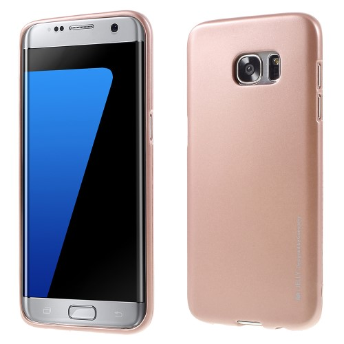 Θήκη SAMSUNG Galaxy S7 Edge MERCURY GOOSPERY i JELLY METAL Πλάτη tpu ροζ