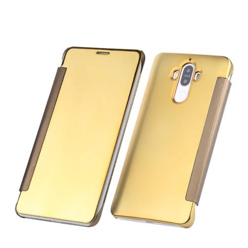 Θήκη HUAWEI Mate 9 OEM Mirror Surface Series Flip Window πλαστική χρυσό