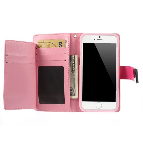 Θήκη iPhone 6 / 6s MERCURY GOOSPERY Rich Diary Flip Wallet δερματίνη φούξια