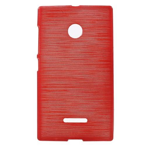 Θήκη NOKIA Microsoft Lumia 435 OEM Brushed Series Πλάτη tpu κόκκινο