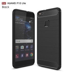 Θήκη HUAWEI P10 Lite OEM Carbon Fibre Brushed TPU Πλάτη tpu μαύρο