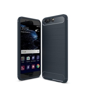 Θήκη HUAWEI P10 OEM Brushed with Carbon Fiber Πλάτη tpu μπλε
