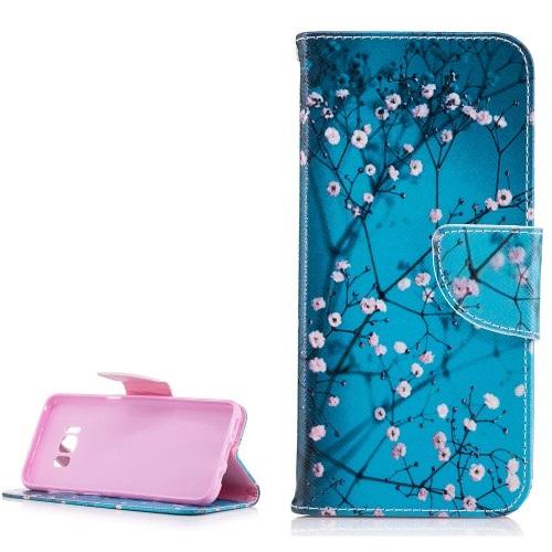 Θήκη SAMSUNG Galaxy S8 OEM σχέδιο Blooming Flower Flip Wallet δερματίνη