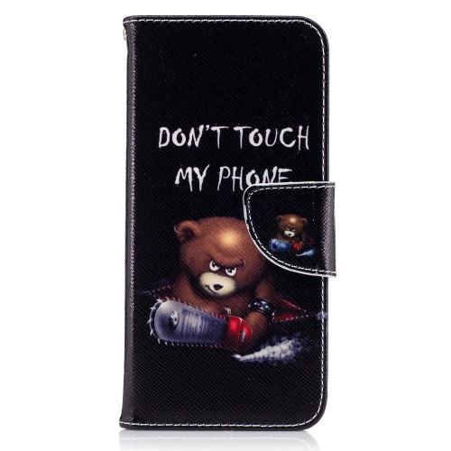 Θήκη SAMSUNG Galaxy S8 OEM σχέδιο Do not Touch My Phone Flip Wallet δερματίνη