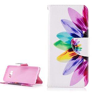 Θήκη SAMSUNG Galaxy S8 OEM σχέδιο Colorful Flower Flip Wallet δερματίνη