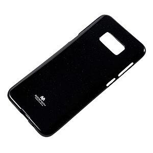 Θήκη SAMSUNG Galaxy S8 Plus MERCURY GOOSPERY Jelly Glitter Πλάτη γκλίτερ μαύρο