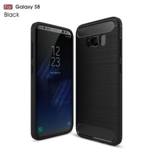 Θήκη SAMSUNG Galaxy S8 OEM Brushed with Carbon Fiber Πλάτη tpu μαύρο