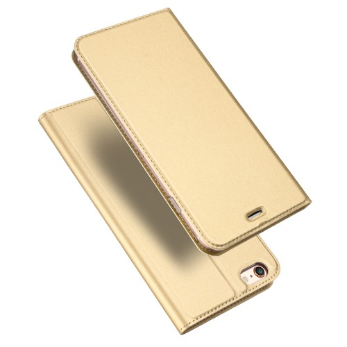 Θήκη iPhone 6 / 6s DUX DUCIS Skin Pro Series Flip Wallet δερματίνη χρυσό