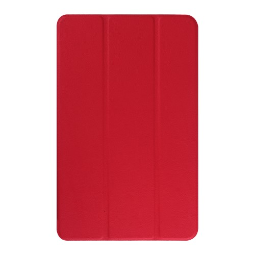 Θήκη TABLET Galaxy Tab E 9.6 OEM Litchi Skin Leather Case with Tri-fold Stand flip δερματίνη κόκκινο