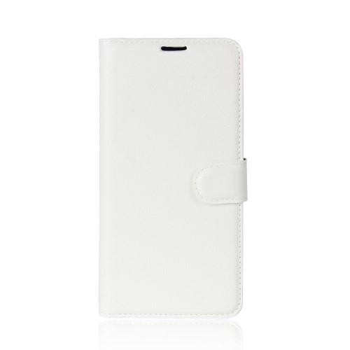 υποδοχές καρτών και μαγνητικό κούμπωμα Πλάτη δερματίνη λευκό