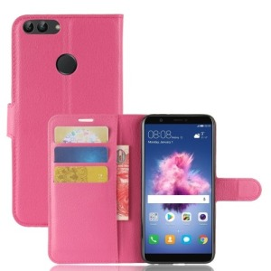 Θήκη HUAWEI P Smart OEM Litchi Skin PU Leather με βάση στήριξης