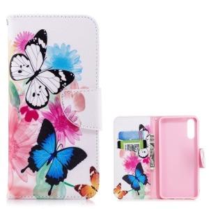 Θήκη HUAWEI P20 OEM σχέδιο Butterfly and Flower με βάση στήριξης