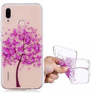 Θήκη HUAWEI P20 Lite OEM σχέδιο Purple Tree Πλάτη TPU