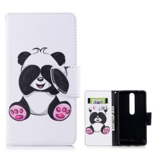 Θήκη NOKIA 6 (2018) OEM σχέδιο Adorable Panda με βάση στήριξης