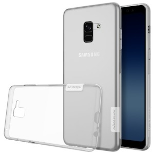 Θήκη SAMSUNG Galaxy A8 Plus NiLLKiN Nature Series 0.6mm Πλάτη TPU διάφανη