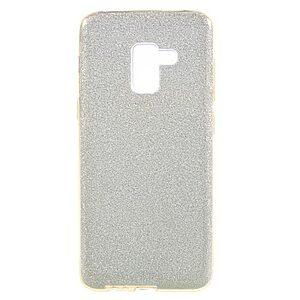 Θήκη SAMSUNG Galaxy A8 Plus OEM Flash Powder Paper TPU Πλάτη γκλίτερ χρυσό