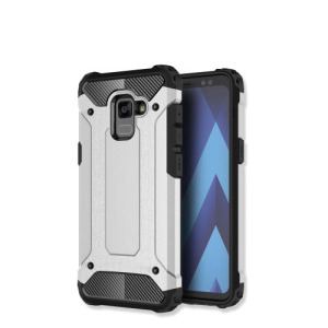 Θήκη SAMSUNG Galaxy A8 Plus OEM Armor Guard Hybrid Πλάτη TPU γκρι