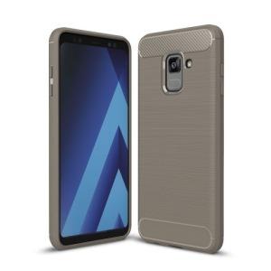 Θήκη SAMSUNG Galaxy A8 Plus OEM Brushed TPU Carbon Πλάτη γκρι