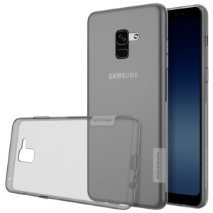 Θήκη SAMSUNG Galaxy A8 Plus NiLLKiN Nature Series 0.6mm Πλάτη TPU γκρι